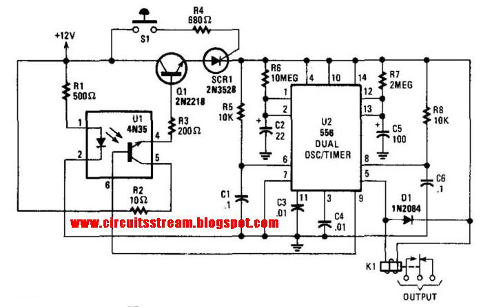 build a burglar alarm with timed shutoff circuit diagram