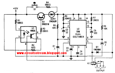 Build a Burglar Alarm With Timed Shutoff Circuit Diagram
