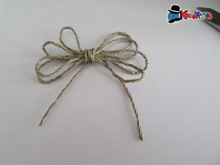 fiocco con fil di spago per bomboniera