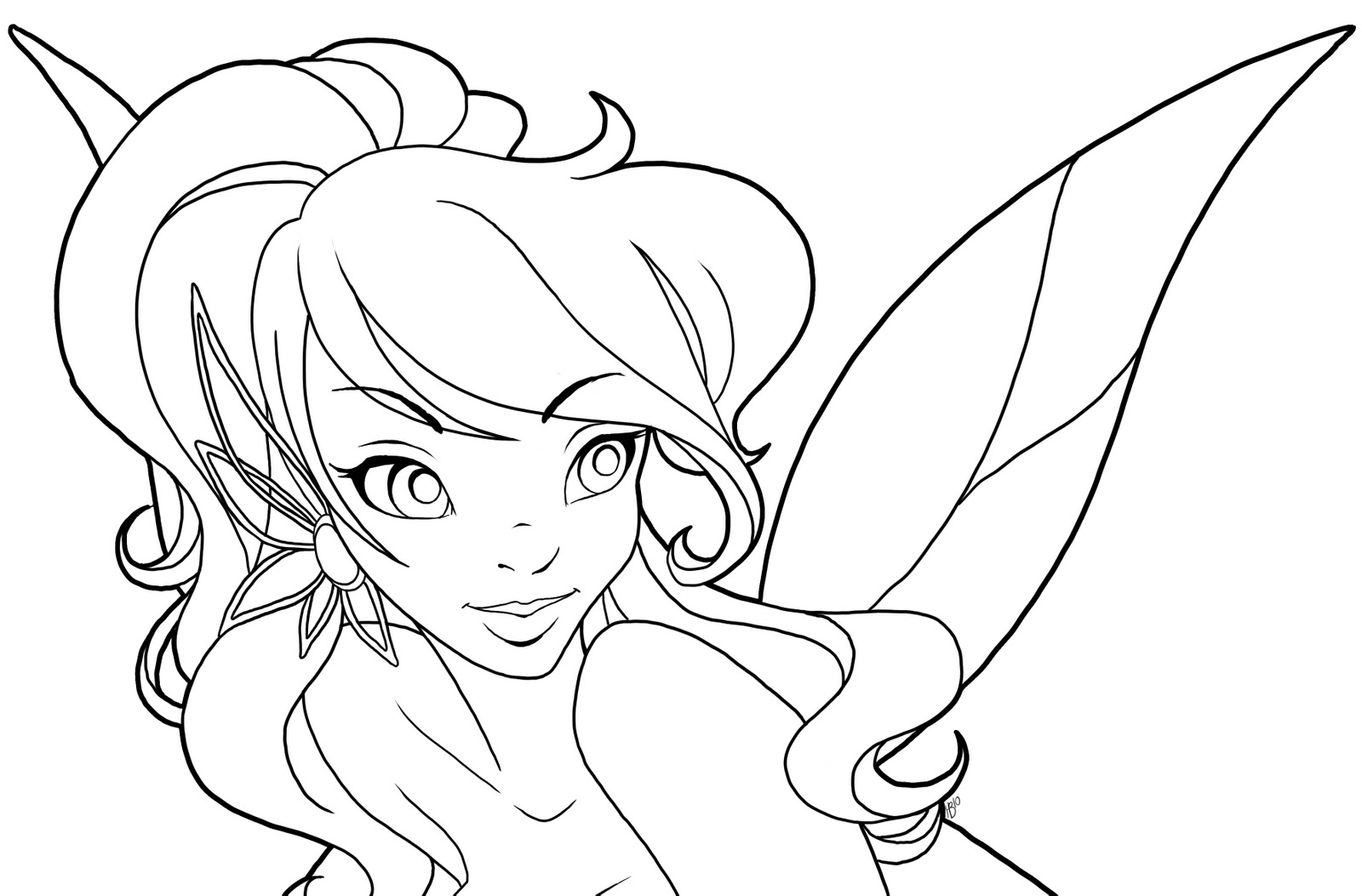 Cartoon Fairy Coloring Pages To Print | Coloring Pages