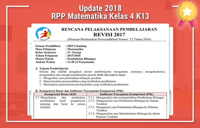 RPP Matematika Kelas 4 K13