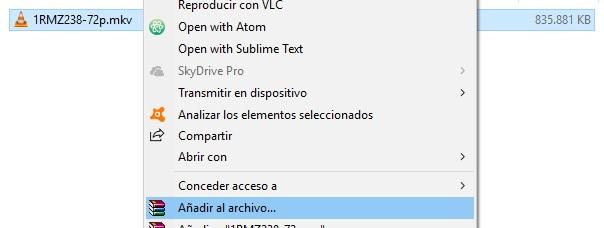 Cómo dividir un archivo en varias partes