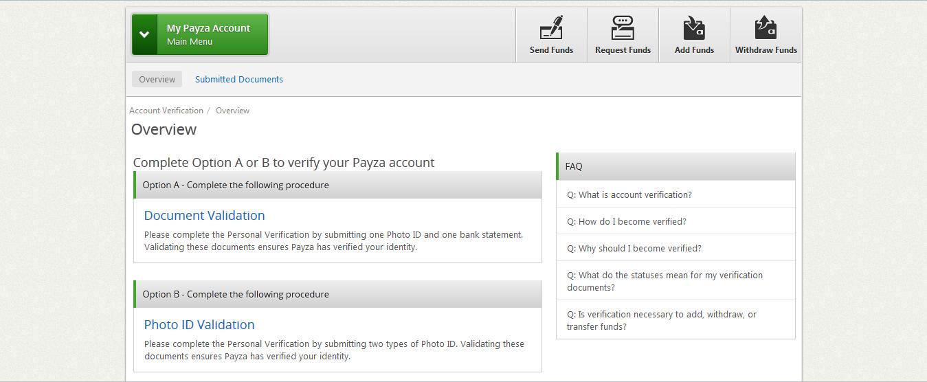 payza test account