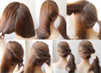 Rambut di Ikat Model Kuncir Samping