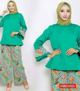 model baju batik muslim modern 2018