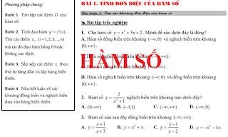 phương pháp giải và các dạng bài tập chuyên đề hàm số