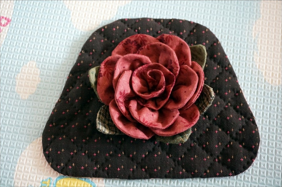 How to make tutorial rose flower shoulder Handbag purse women sewing quliting. Сумочка с розой. Мастер-класс по шитью