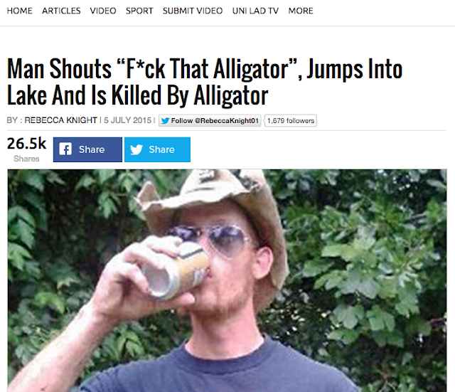 f*ck that alligator