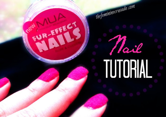 Picture of MUA Fur-Effect Nail in Fluff & Cuddles - Nail Tutorial