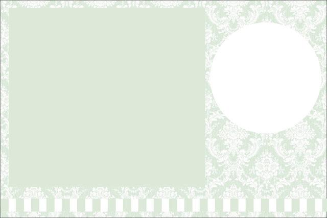 Verde Provençal Kit Completo Com Molduras Para Convites Rótulos