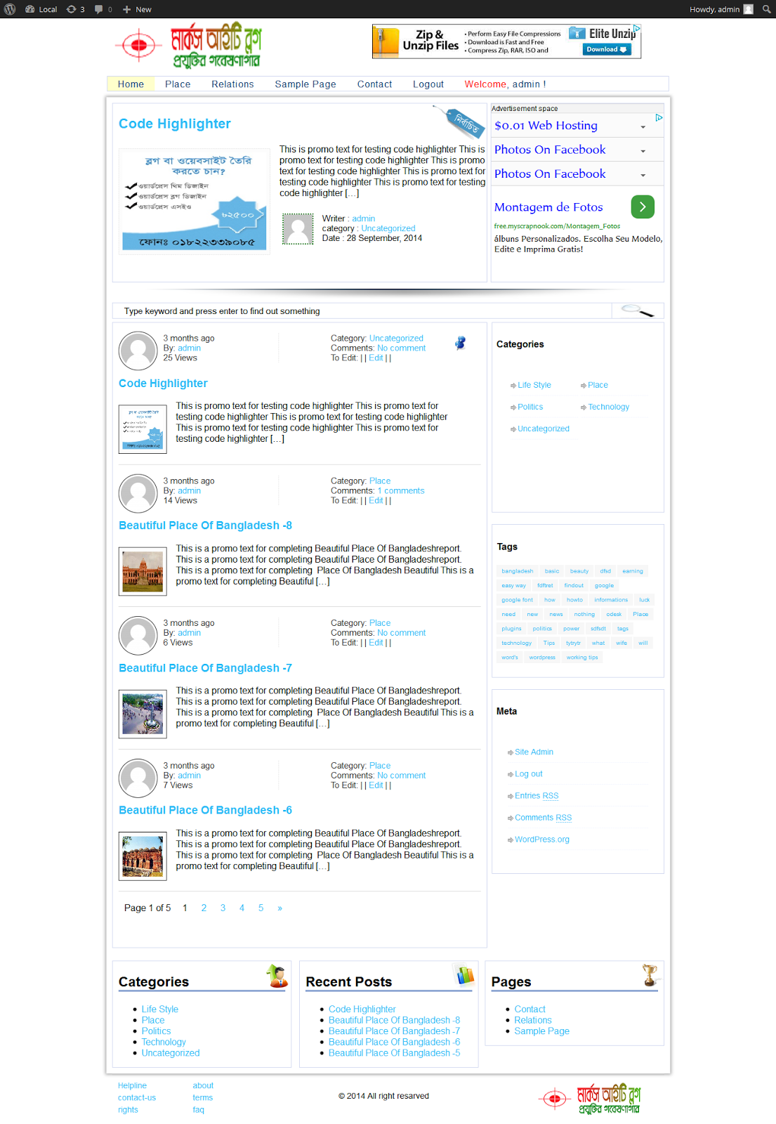 Techtunes Multi Author Blogging Theme Download For Free