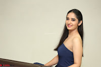 Radhika Mehrotra in sleevless Strap less Blue Gown At Prema Entha Madhuram Priyuraalu Antha Katinam Movie Interview ~  Exclusive 034.JPG