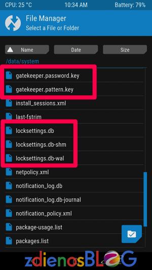 File Manager TWRP - Cara Cepat Mengatasi Lupa Pola Android