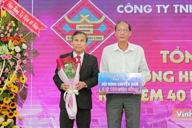 Công ty Xổ số kiến thiết Vĩnh Long tài trợ đội bóng chuyền nam 3,1 tỷ đồng