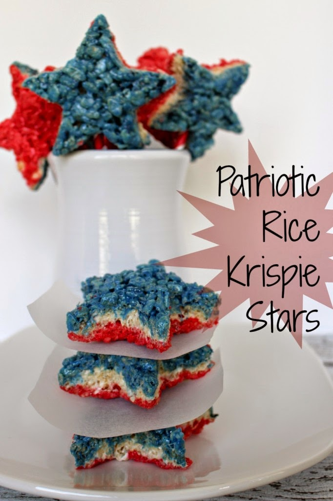 Patriotic Rice Kripie Treats