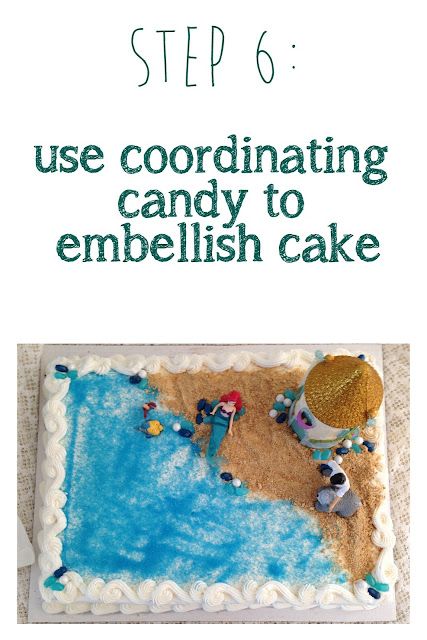 Little Mermaid Cake tutorial using a costco cake