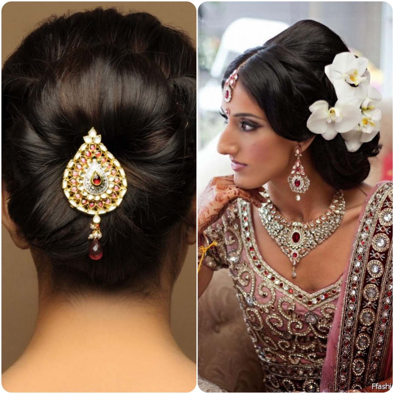 Women Fashion Girls Dress Indian Native Wedding Hair