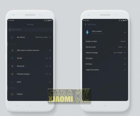 Screenshoot Tema Untuk Xiaomi MIUI Material Dark Simple Theme For Redmi