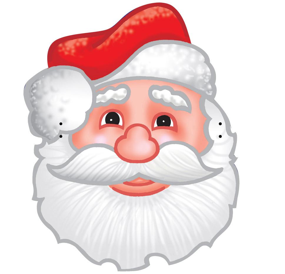 Máscaras De Papai Noel Coloridas Para Imprimir Espaço Educar