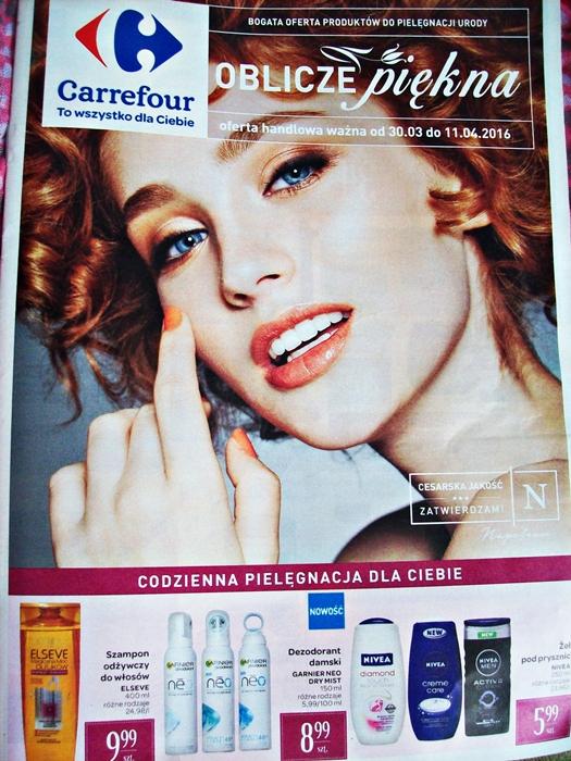 Oblicze piękna - oferta kosmetyczna Carrefour ważna od 30.03 do 11.04.2016