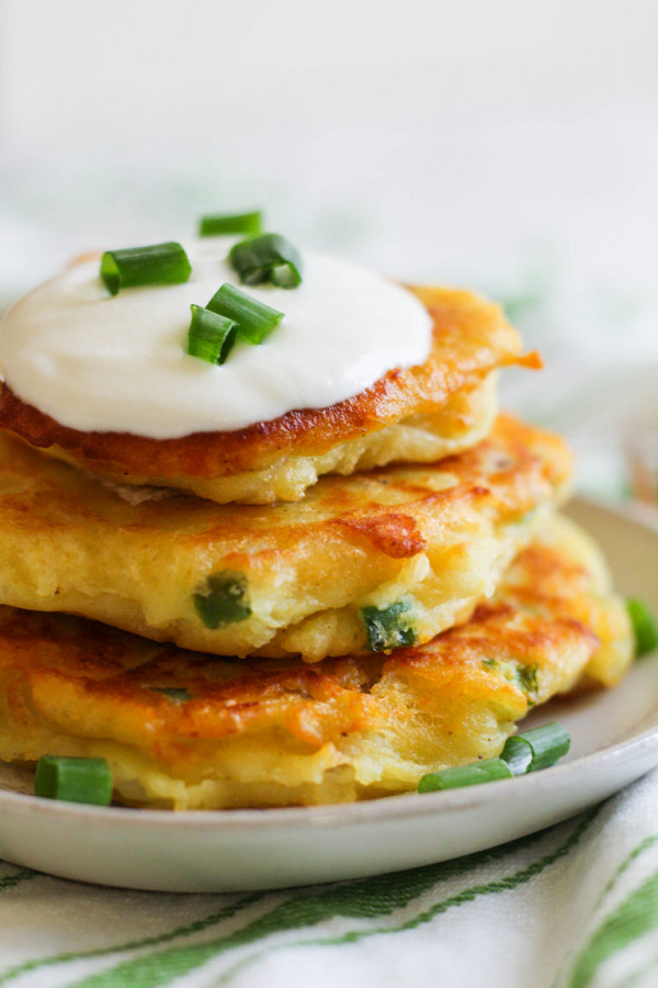 Spicy Curry Potato Pancakes