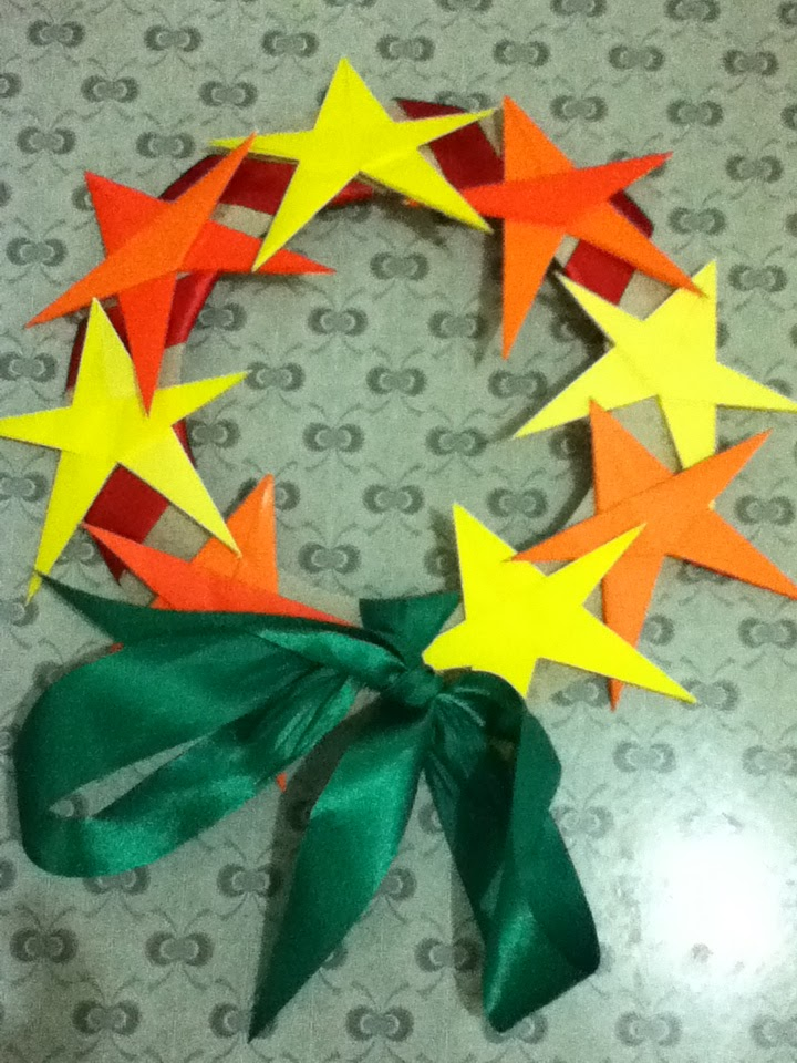 School Librarian In Action Crafts At Christmas Origami Star Wreath