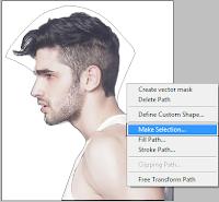 menyeleksi rambut, cara menyeleksi menggunakan pen tool