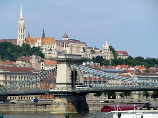 Chain Bridge Buda Danube River Budapest Hungary