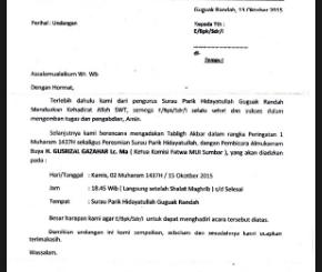 Surat Edara Pertemuan Wali Murid