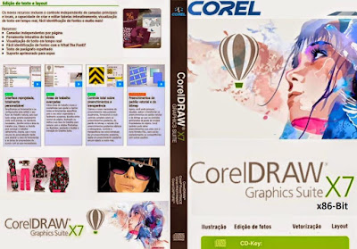 CorelDRAW Graphics Suite X7 - x64-Bit DVD Capa