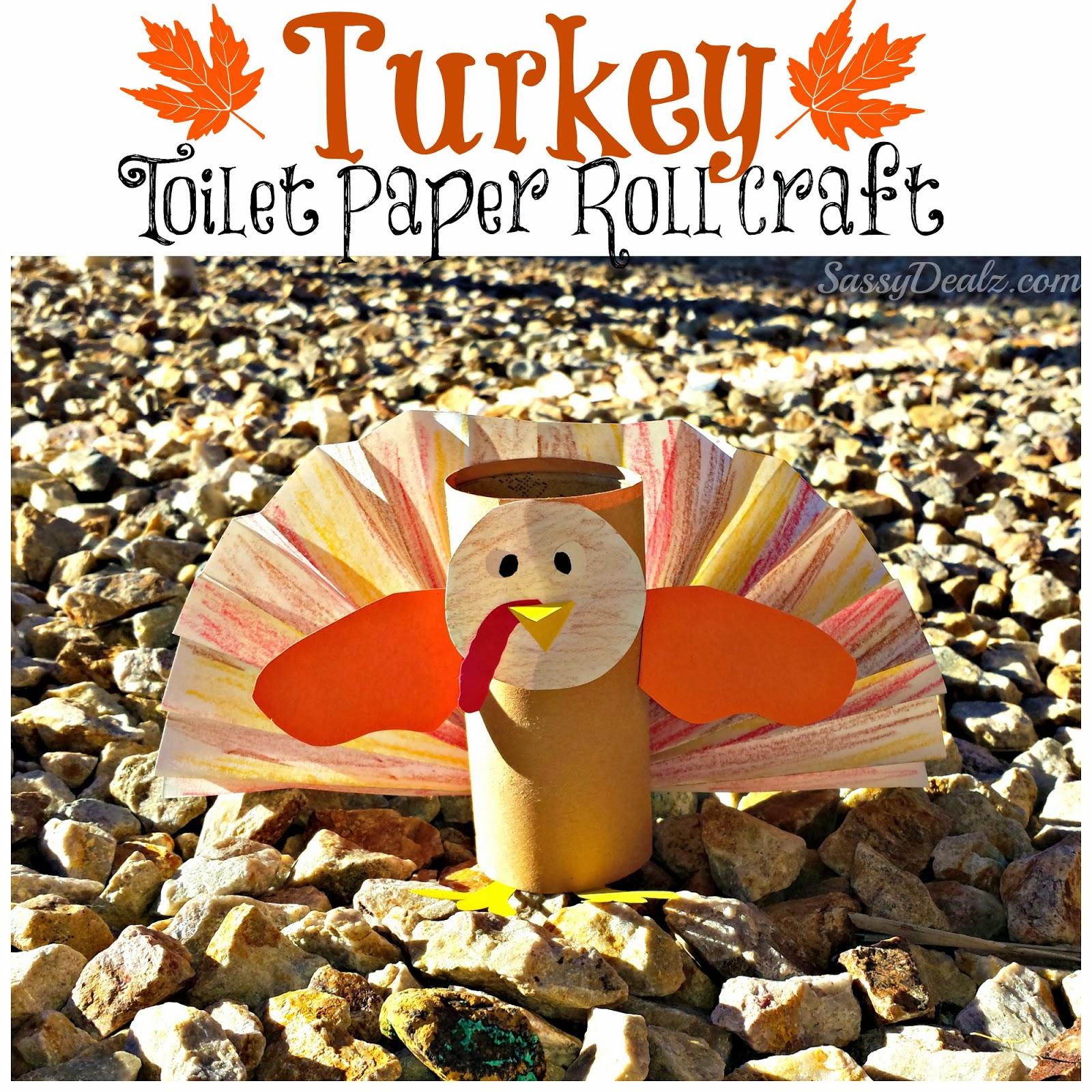 Turkey Toilet Paper Roll Craft For Kids Thanksgiving Art