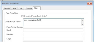 PeopleSoft Fluid Component