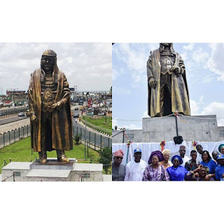 Lagos State government unveils new statue of Gani Fawehinmi in ojota