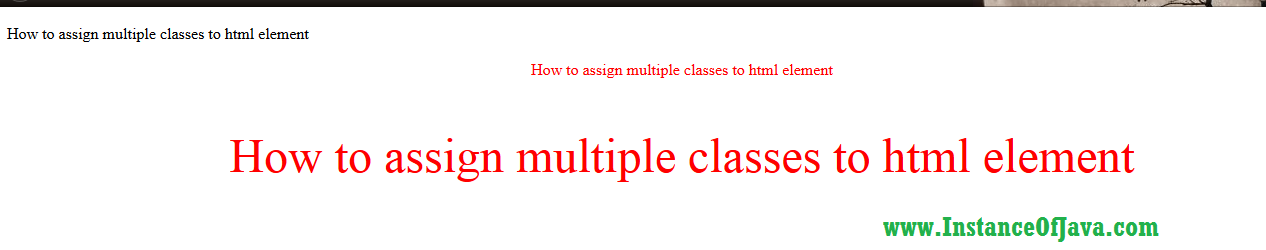 html multiple classes