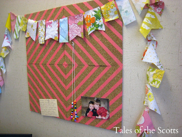 DIY Washi Tape Cork Board