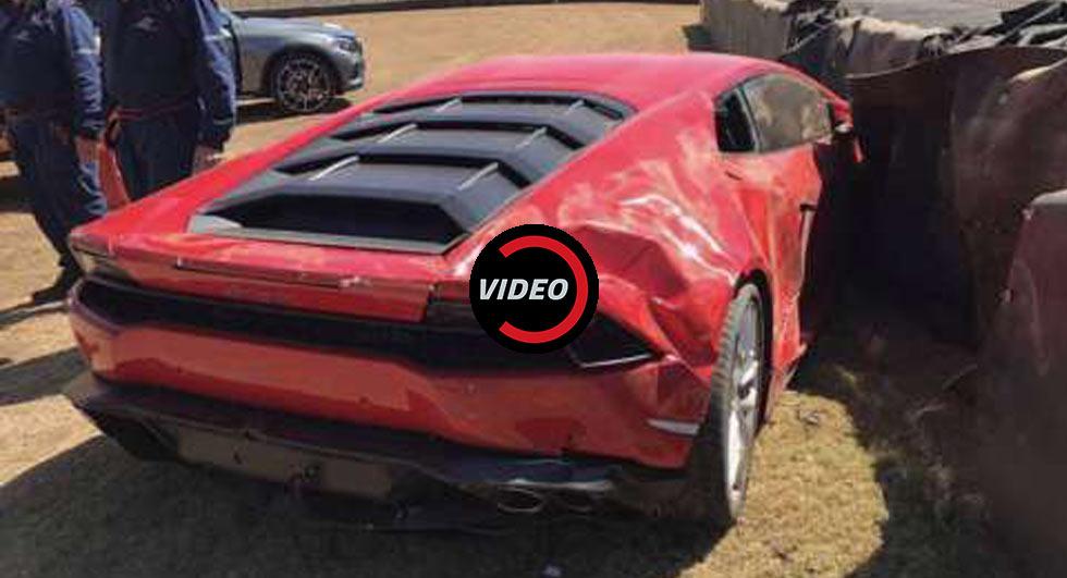 Lamborghini Huracan Crashes At The South African Festival
