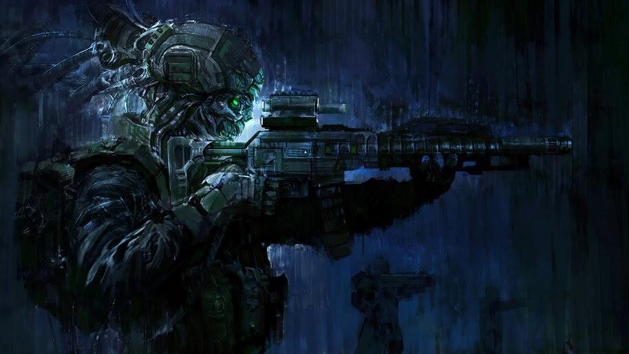 Sci-Fi, Soldier, Guns, 4K, #4.1017
