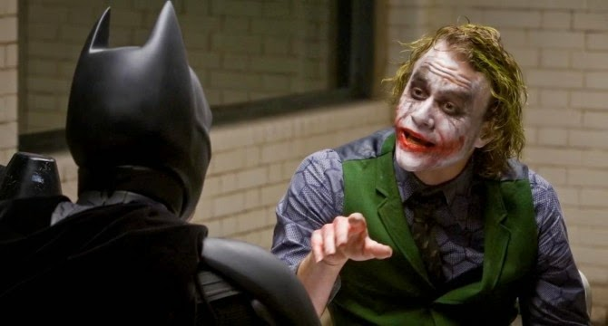 The interrogation scene from The Dark Knight