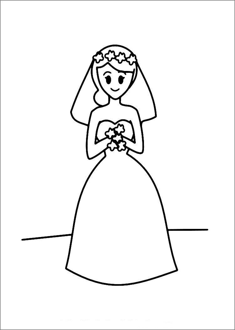 Bride Coloring Page ~ Child Coloring