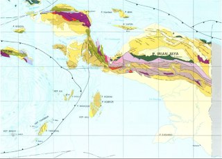 geologi lempeng tektonik pulau papua