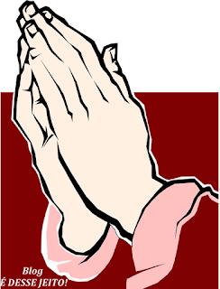 Imagem de Mãos em posição de Oração ao SENHOR DEUS