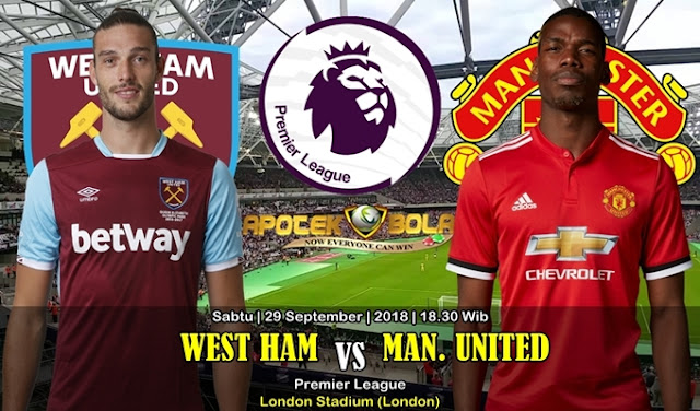 Prediksi West Ham vs Manchester United 29 September 2018