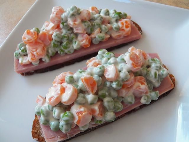 Italiensk Salat on rye bread