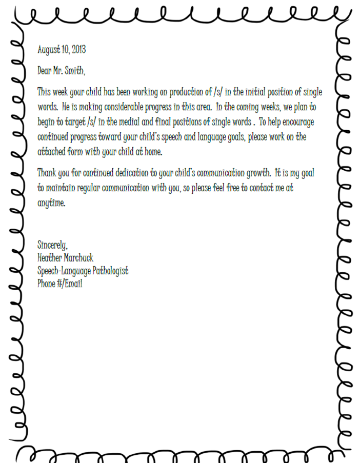 Cooking up gallon size fun for quart size communicators for Parent letter from teacher template