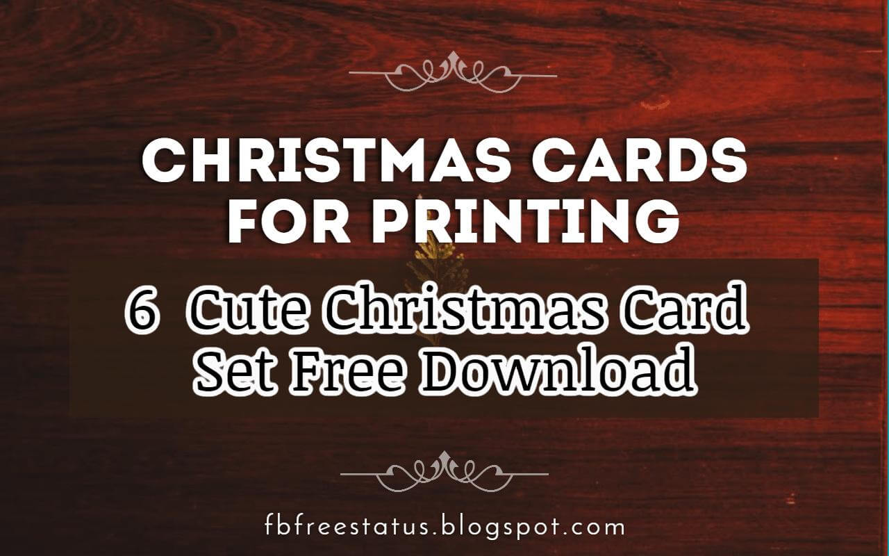 Cute Christmas Card Set Download Free
