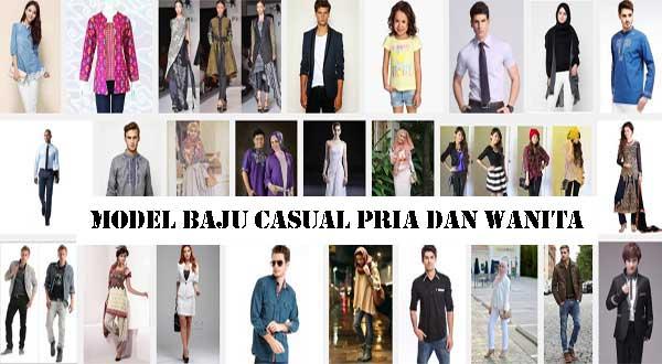 Model Baju Casual Pria dan Wanita