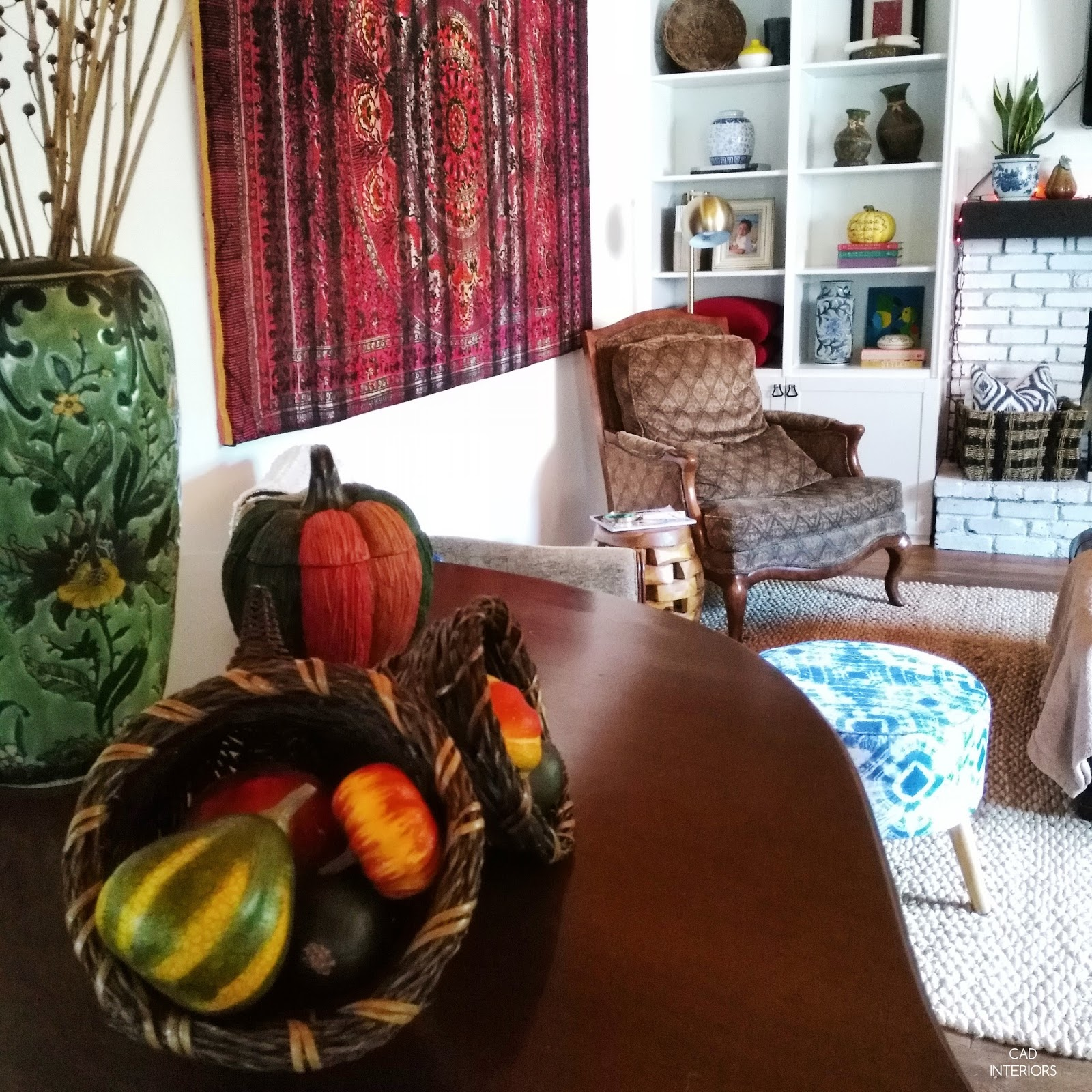 fall home interior decorating design autumn touches