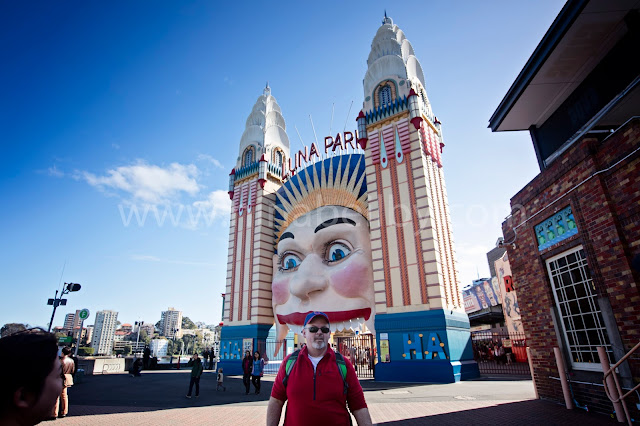 Luna Park Sydney harbour Walking group