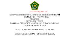 Juknis Bos Madrasah Tahun 2019 (MI, MTs dan MA)