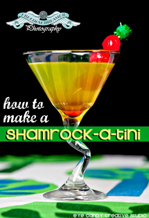 cocktail recipe, st pattys day cocktail, shamrock cocktail, how to make
